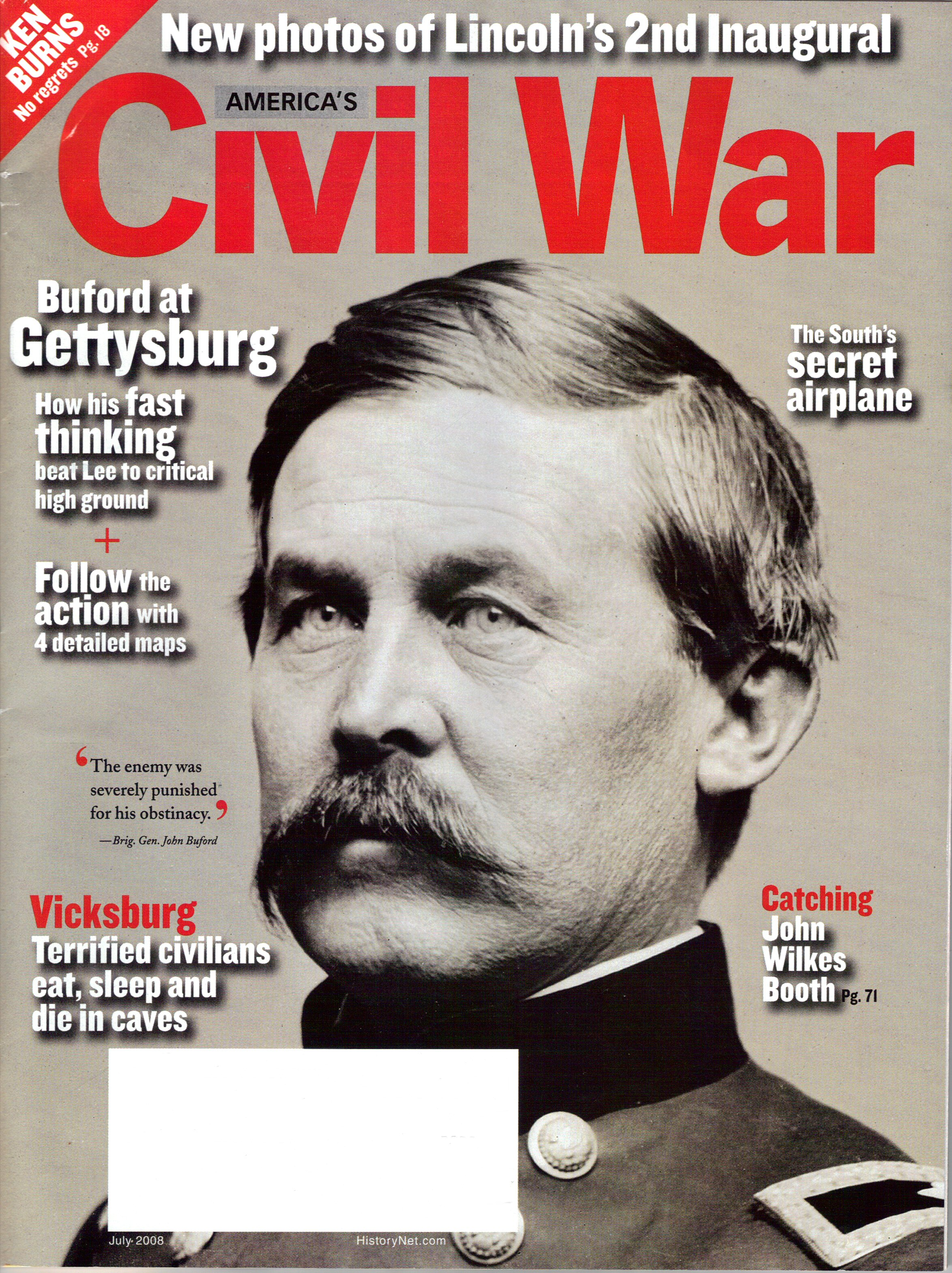 Americas Civil War, Volume 21, Number 3 (July 2008)