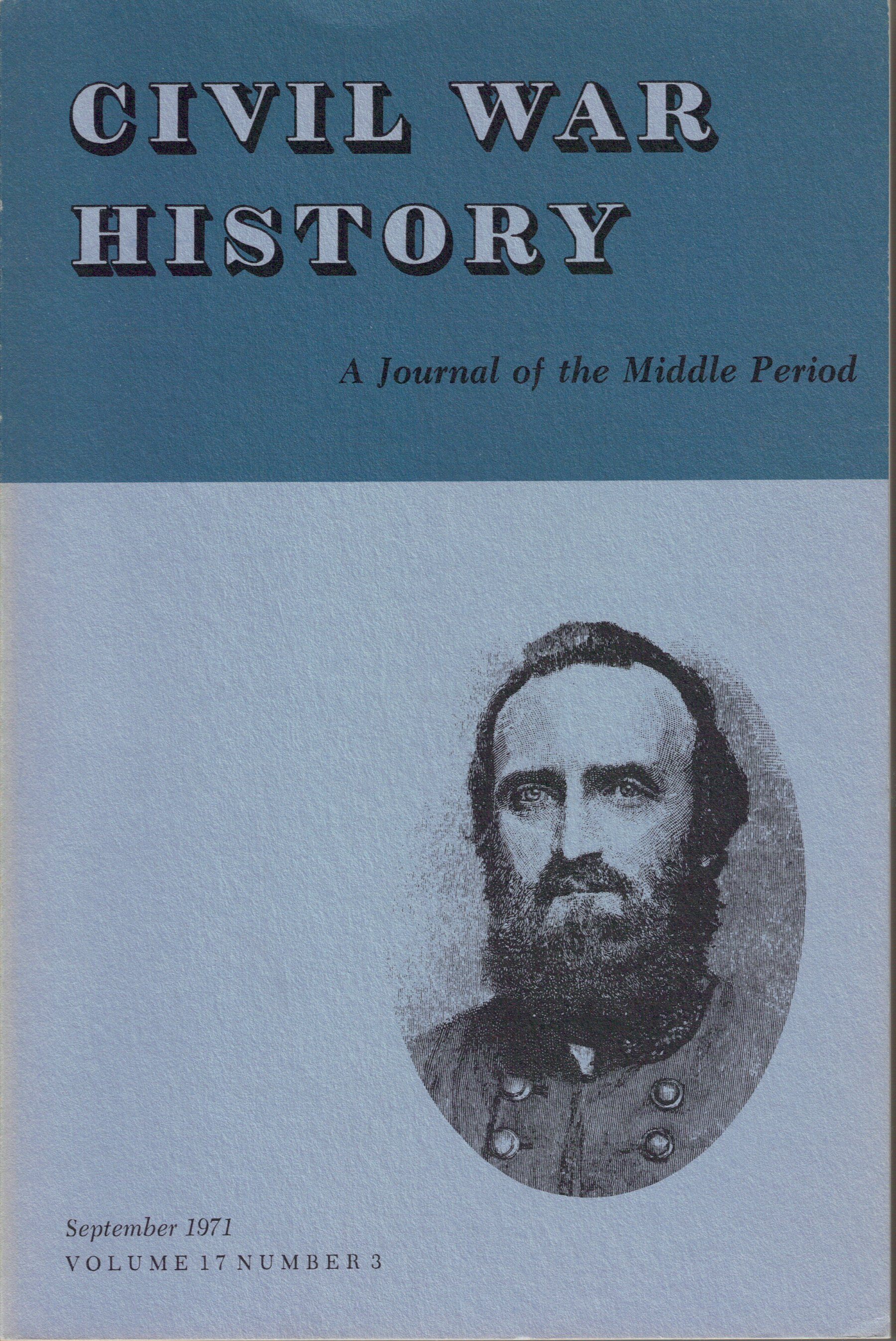 Civil War History, Volume 17, Number 3 (September 1971)
