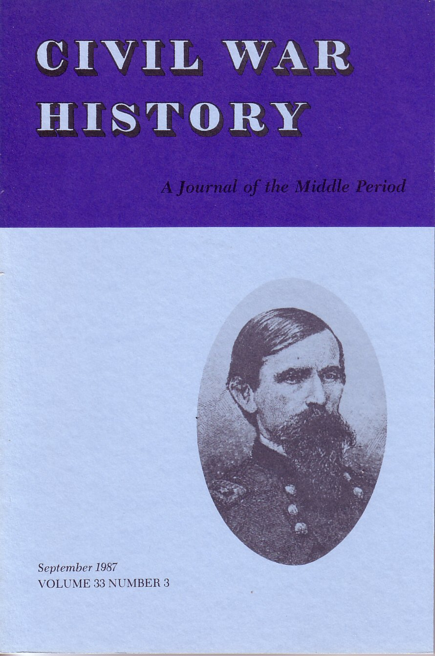 Civil War History, Volume 33, Number 3 (September 1987)
