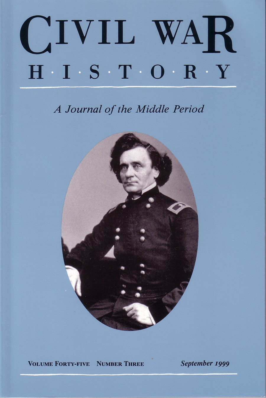 Civil War History, Volume 45, Number 3 (September 1999)