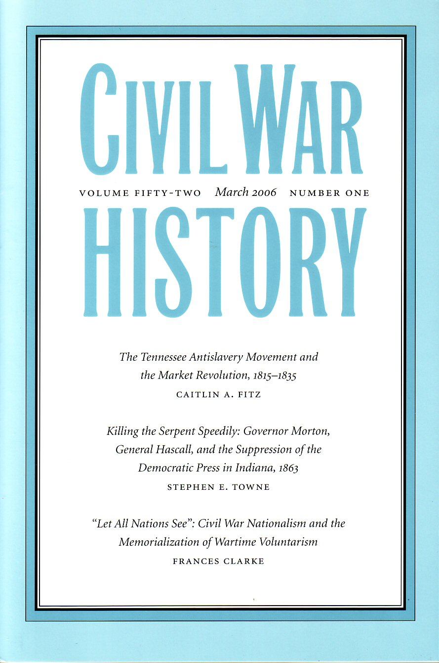 Civil War History, Volume 52, Number 1 (March 2006)