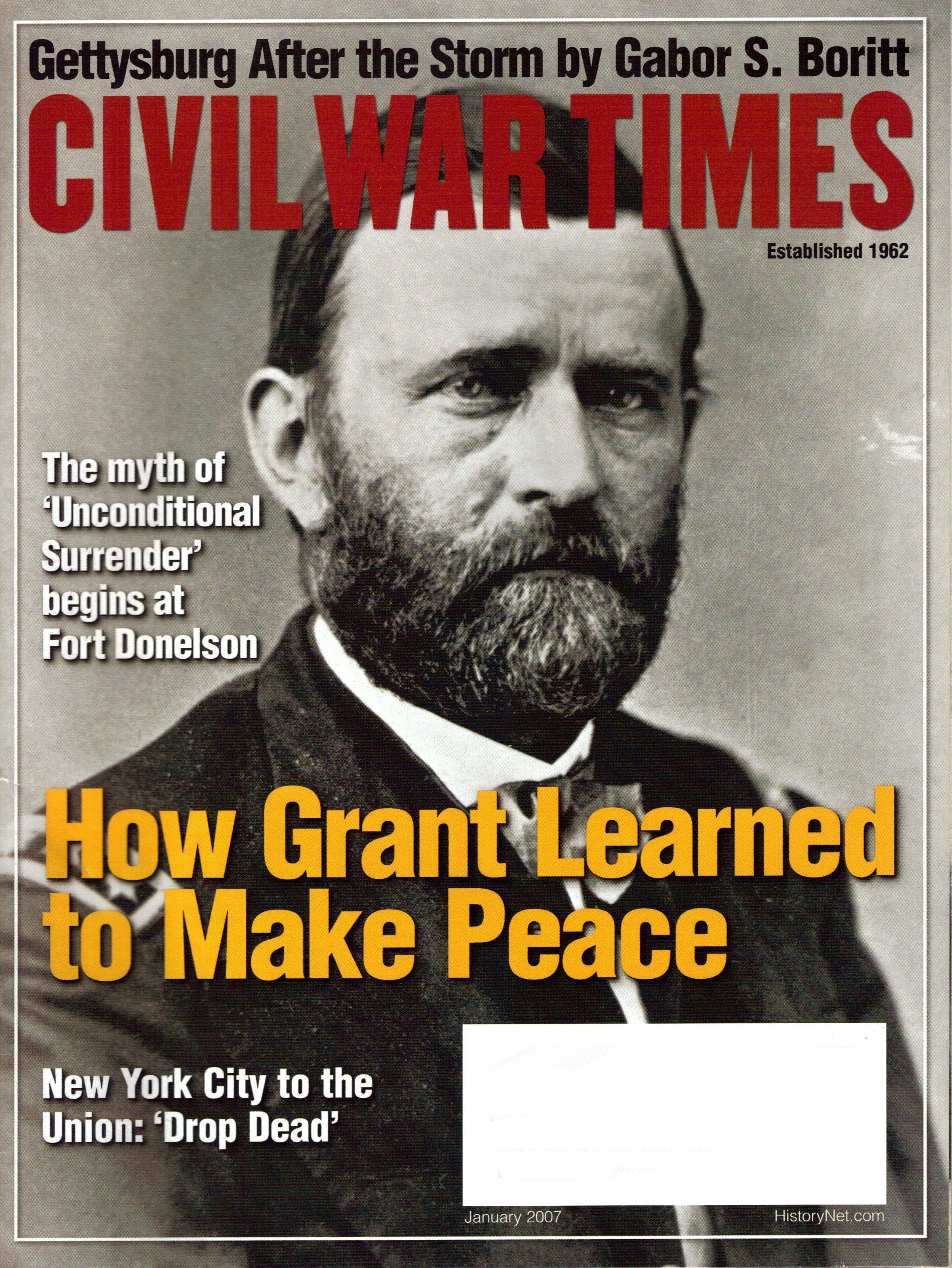 Civil War Times, Volume 45, Number 10 (January 2007)