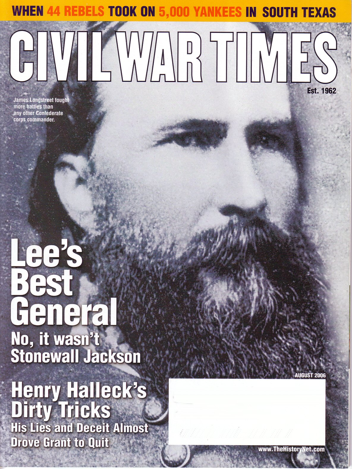 Civil War Times, Volume 45, Number 6 (August 2006)