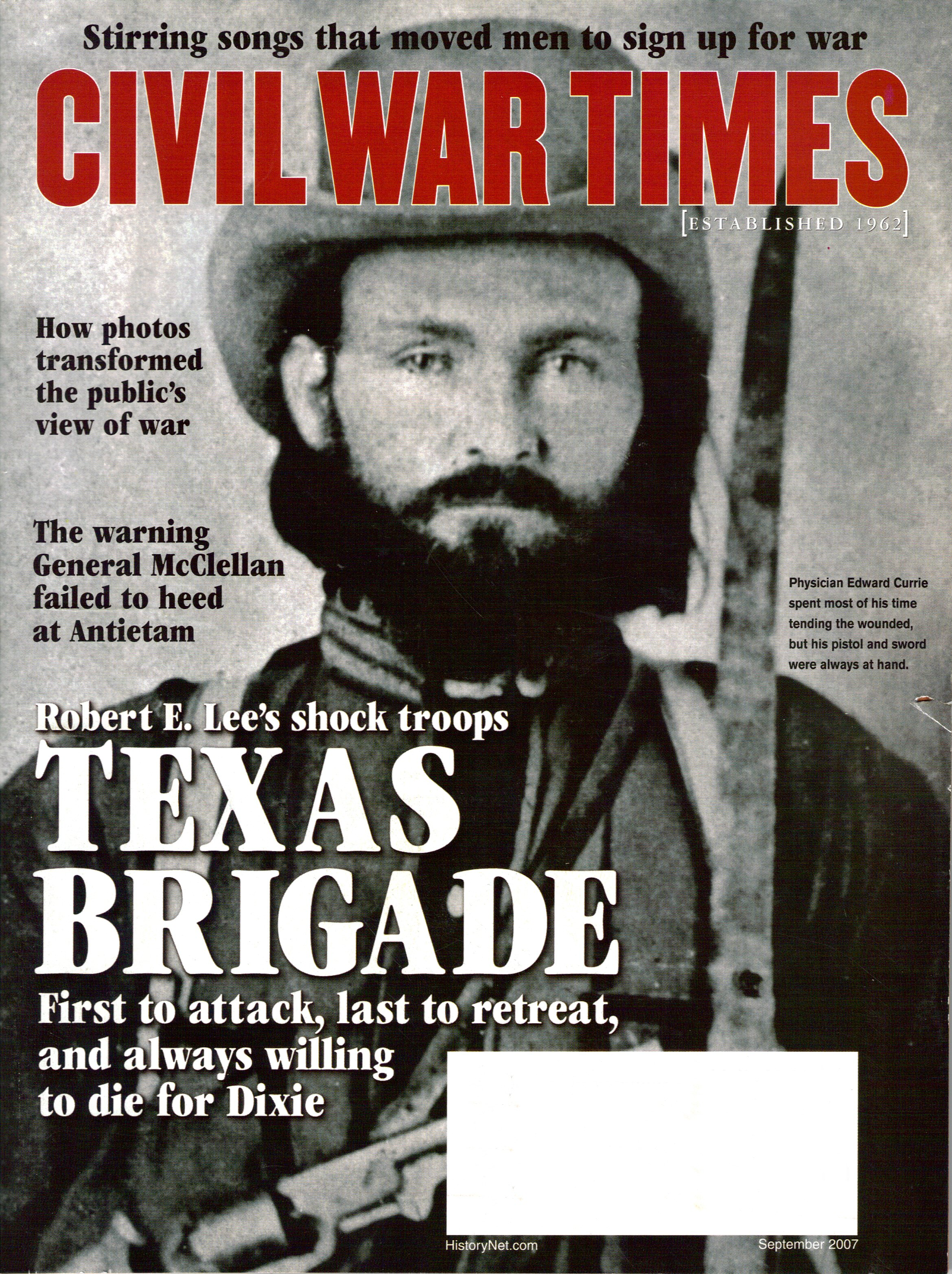 Civil War Times, Volume 46, Number 7 (September 2007)