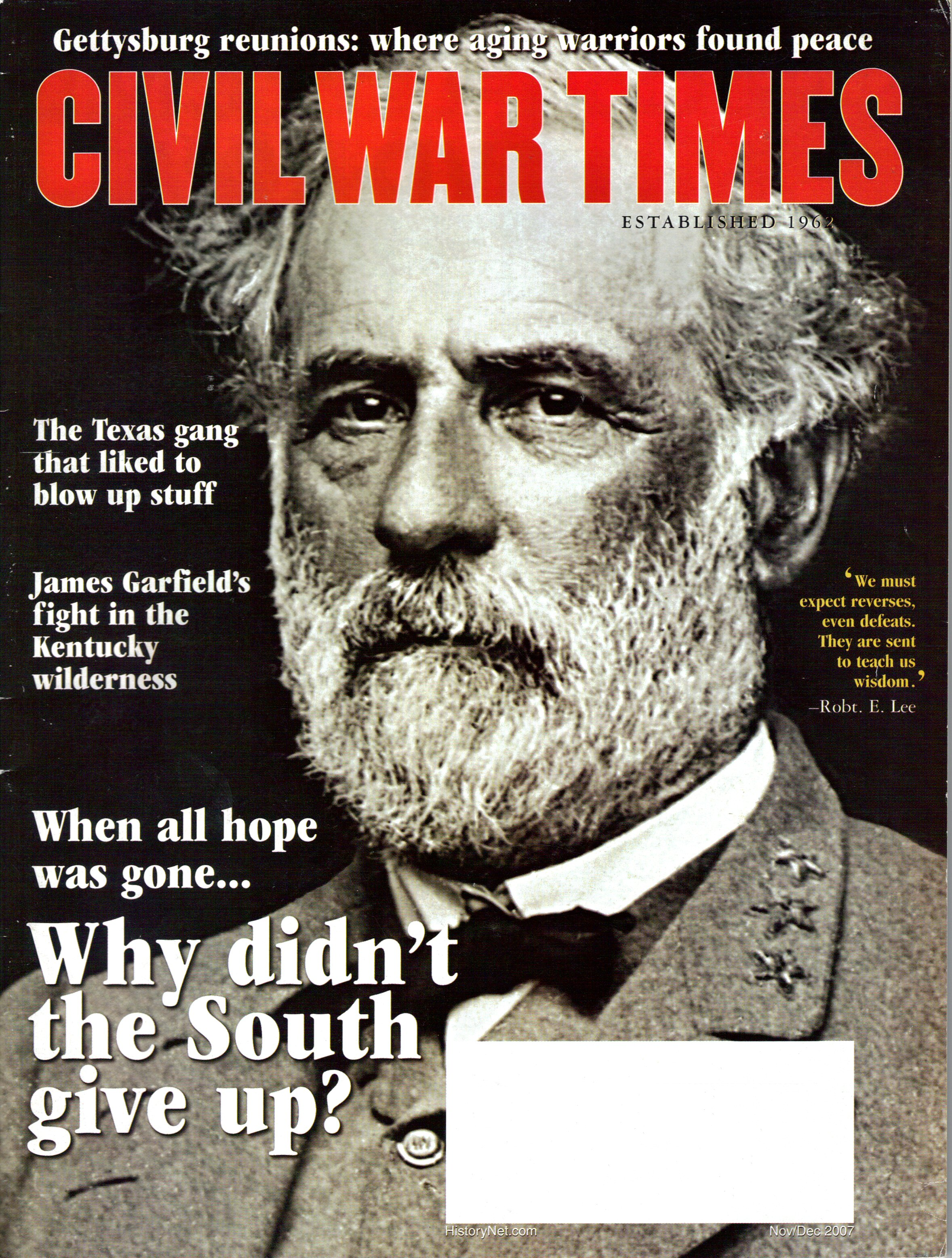 Civil War Times, Volume 46, Number 9 (November/December 2007)