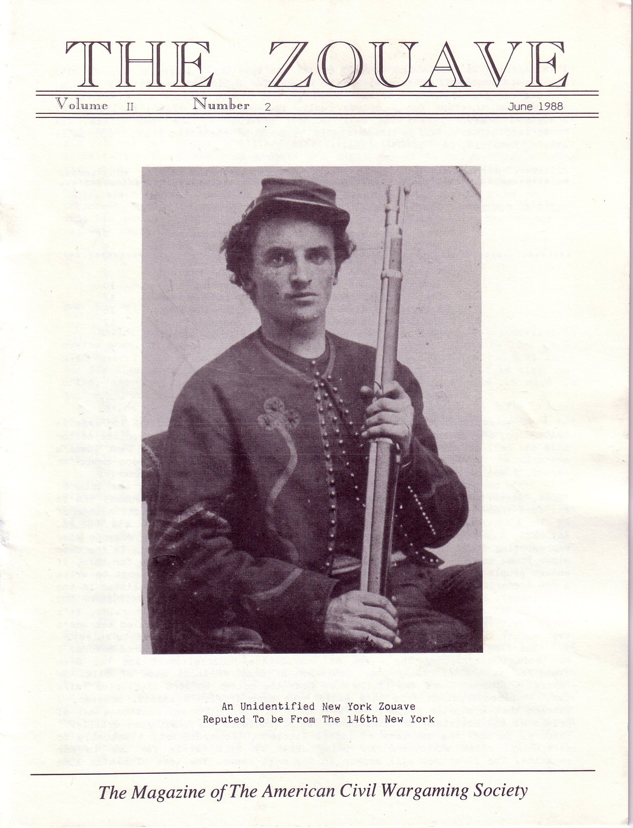 Zouave, Volume 2, Number 2 (June 1988)