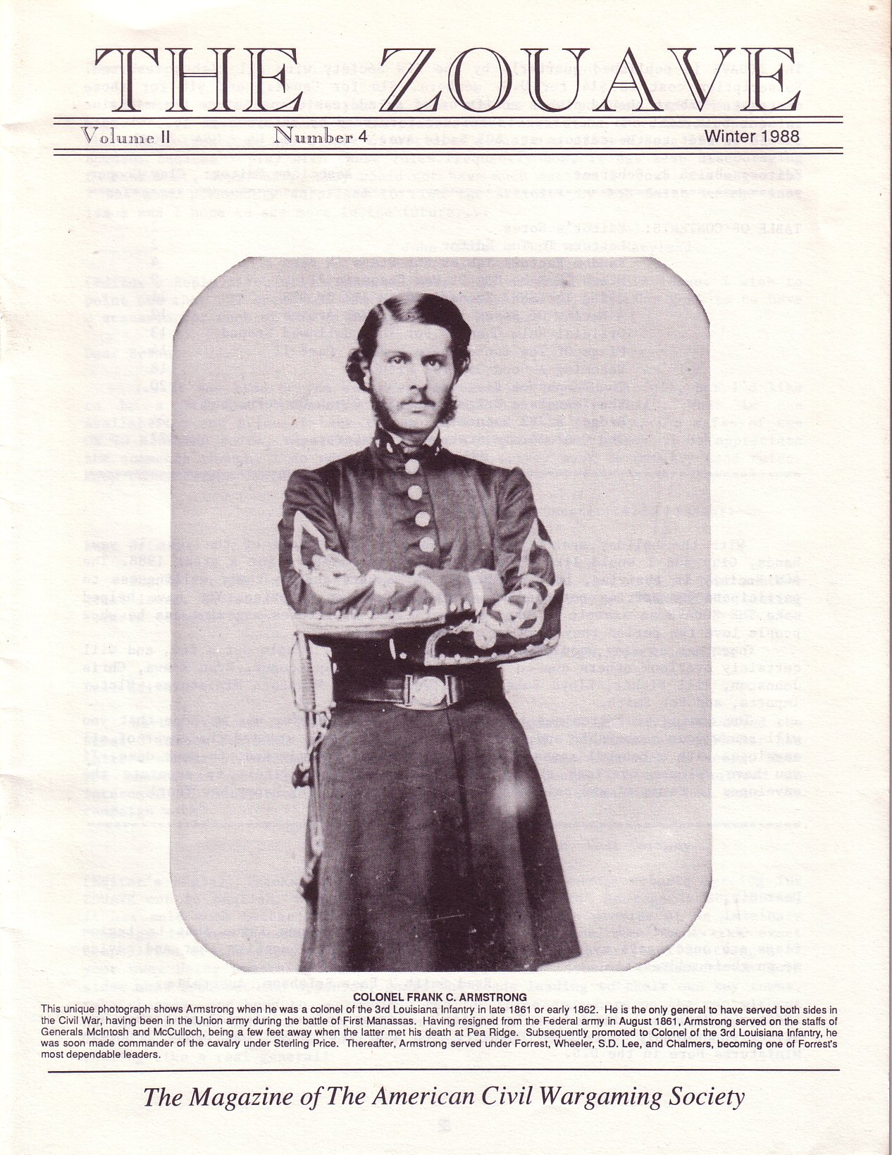 Zouave, Volume 2, Number 4 (Winter 1988)